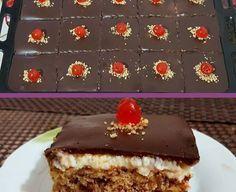Καρυδόπιτα με κρέμα και γλασσο σοκολάτας…❣❣❣