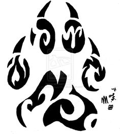 Tribal Wolf Paw by Mistress-Moon-Wolf on DeviantArt Wolf Tattoo Design, Tattoo Designs, Tribal Moon Tattoo, Tribal Tattoos, Tribal Wolf, Tribal Art, Wolf Tattoos, Body Art Tattoos, Wolf Paw