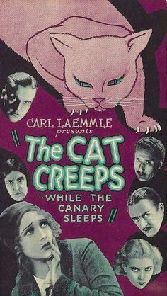 The Cat Creeps Helen Twelvetrees, Raymond Hackett, Neil Hamilton, Elizabeth Patterson Horror Movie Posters, Cinema Posters, Movie Poster Art, Horror Films, Sci Fi Movies, Old Movies, Vintage Movies, Famous Movies, Fantasy Movies