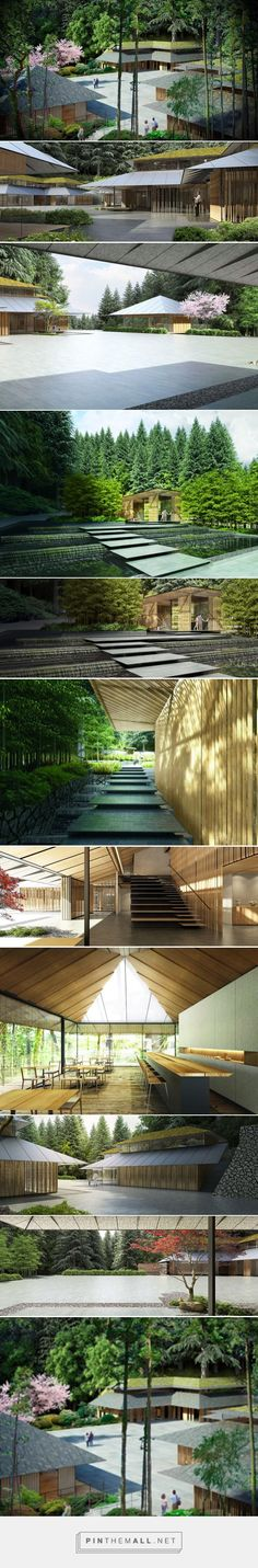 kengo kuma to expand portland japanese garden with scenic cultural village - created via http://pinthemall.net
