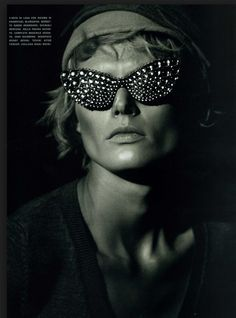 Stylists: New Fashion Visionaries, a book on futuristic fashion, features photo with Mercura Bubble Sunglasses styled by Patti Wilson in Vogue Magazine 2008 (Vogue Italia) photo by Peter Lindbergh: at bookstores now