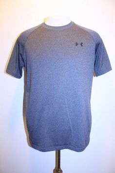 Under Armour Top M Gray Loose Fit Heat Gear Athletic Fitness Workout TShirt #UnderArmour #ShirtsTops