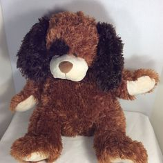 "Dan Dee Collector's Choice Plush Shaggy DOG Left Black Eye Brown 18"" Length #DanDee"
