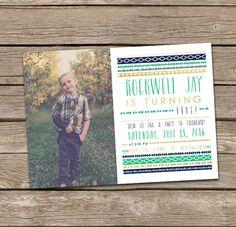 Boy Birthday Invitation: Boy Aztec Tribal Camping by deanworks