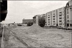 Berlin am 5.6.1987     Blick: Richtung Leipziger Platz. Im Hintergrund Rollheimer sowie DDR Verwaltungsgebäude + Wachtturm.