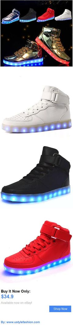 e187fe5e8b6 Unisex adult shoes  Hot Unisex Usb Led Lights Luminous Shoes Sportswear  Kids Lace Up Casual Sneaker BUY IT NOW ONLY   34.9   ustylefashionUnisexadultshoes OR ...