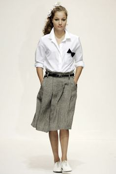 bow tie pinned to shirt is a nice touch-- Margaret Howell S/S 2006