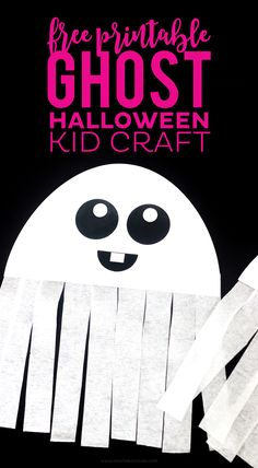 This FREE Printable Ghost Halloween Craft would be a great activity for your Halloween Party! Kids love creating their own ghosts! Scary Halloween Decorations, Halloween Crafts For Kids, Crafts For Kids To Make, Halloween Activities, Halloween Ghosts, Halloween Projects, Craft Activities For Kids, Cute Halloween, Holidays Halloween