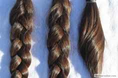 "Cool 12"" VIRGIN Medium Brown Hair For Sale"