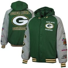 Green Bay Packers Defender Commemorative Full Button Hooded Jacket - Green/Ash.  #UltimateTailgate  #Fanatics