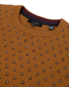 Explore men's designer jumpers at Ted Baker. Golf Fashion, Knit Fashion, Mens Fashion, Cotton Sweater, Men Sweater, Winter Travel Outfit, Golf Outfit, Golf Shirts, Sport Outfits
