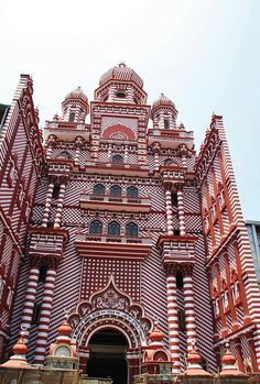 Red Mosque in Pettah  Sri Lanka