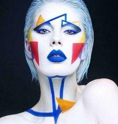Super Painting Face Abstract Make Up Ideas #painting Crazy Makeup, Makeup Looks, Guys Makeup, Graphic Makeup, Art Visage, Extreme Makeup, Mehron Makeup, High Fashion Makeup, Fashion Art