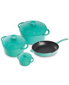 Fiesta Cast Iron 5.3 Qt. Covered Dutch Oven - Cookware - Kitchen - Macy's