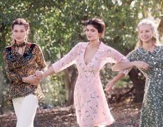 Bella Hadid, Kylie Jenner, and Lottie Moss wear feminine florals for Vogue