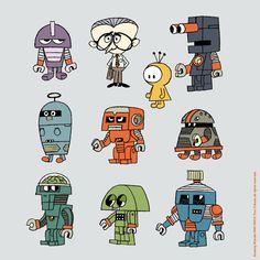 Drawing Wonder • 本日のイラストレーション〜。 今回はロボットですよ。 地味で兵器っぽいカラーリングをすると...