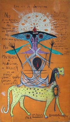 Lepidoptera *  Leonora Carrington, 1968