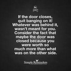 If the door closes,