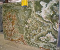 Green Onyx slab - bathroom countertops - dallas - by The Granite Shop   via Houzz