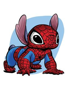 Spiderman Drawing, Spiderman Art, Cute Disney Drawings, Cute Drawings, Couture Disney, Lilo And Stitch Quotes, Stitch Drawing, Fan Drawing, Cute Stitch