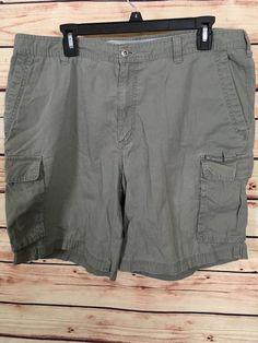Columbia cargo shorts men's size 36 green 100% cotton #Columbia #Cargo