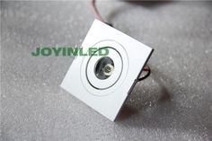 1X3W White-Square-led-downlights-led-ceiling-lamp-down-light-Front
