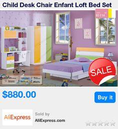Child Desk Chair Enfant Loft Bed Set Kids Table And Chair Wood Kindergarten Furniture Camas Lit Enfants Childrens Bunk Beds  * Pub Date: 01:20 Jul 25 2017