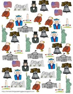 Find, Tally and Graph- Patriotic National Symbols
