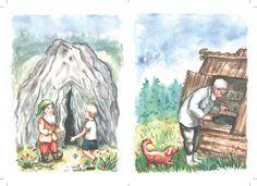 Návrh prednej predsádky (Екатерина Любимова, Приключения Никиты и его друзей). Ilustrácie Mária Ždan.
