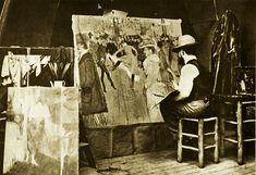 The studio of Henri De Toulouse Lautrec