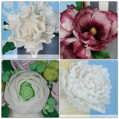 beginners cake decorating class melbourne Australia :: Lc- I love these quick and simple fondant flowers - excellent for beginners!
