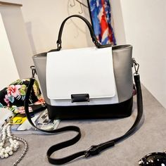 9d5956e2de6 2016 New Women Fashion Star Style Vintage Trapeze Bucket Bag Leather Handbag  Shoulder Top-handle