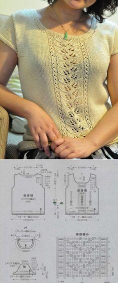 кофточка с веткой листиков спицами. | Вязание крючком и спицами | Постила [] #<br/> # #Knitting<br/>