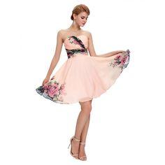 Kvetované spoločenské šaty CL7501