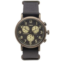 Timex Weekender Chrono Oversized Watch (Black & Yellow)