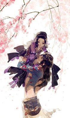 Môn phái: Vạn Hoa (nữ) x Cái Bang (nam) - Game: VLTK 3D - Artist: 伊吹五月 (Ibuki Satsuki) | Periacon Anso