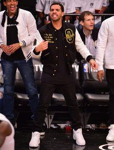 "Coach Drake in the ""OVO"" Air Jordan 12 #drake #jordan #ovo"