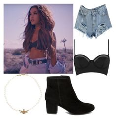 """Ariana grande Into You Outfit"" by kate-manjarrez on Polyvore featuring Topshop, Vivienne Westwood and Steve Madden"