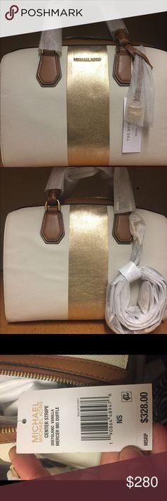 199e09192075 Michael Kors center stripe duffle Michael Kors center stripe duffle in  vanilla! Brand new with tags and dustbag!