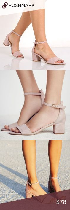 """FREE PEOPLE Marigold Block Heel Sandal NIB! 💕In Mauve 💕Show off how your love for looking stylish with the help of the Marigold Block Heel. *Size EU 38, 39, 40 / US 7.5, 8.5, 9.5 *Suede leather upper *Single band *Leather lining *Adjustable buckle closure *Lightly cushioned insole *Leather outsole *Heel Height: 2"""" ❌NO TRADES I❤️Bundles ❤️REASONABLE OFFERS ONLY PLEASE❤️ Free People Shoes Sandals"""