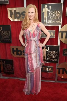 Nicole Kidman in sparkles and ruffles at the SAG Awards