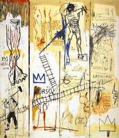Jean-Michel Basquiat.  Leonardo da Vinci's Greatest Hits, 1982.