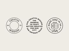 Creative Mission Badges designed by Christina Donald. the global community for designers and creative professionals. Self Branding, Logo Branding, Corporate Branding, Personal Branding, Typography Logo, Typography Design, Lettering, Brand Identity Design, Branding Design