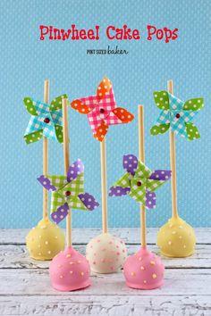 Pint Sized Baker: Pinwheel Cake Pops and tips on making cake pops in the summer heat!