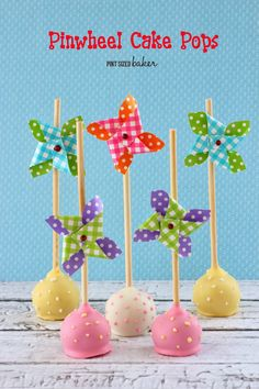 Pint Sized Baker: Pinwheel Cake Pops and tips on making cake pops in the summer heat!