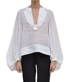 Diane Von Furstenberg Linnen Mallegra blouse   Lindelepalais.com 13641