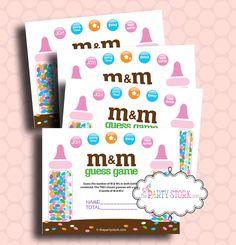 M&M baby shower game :)