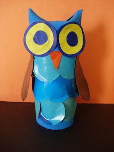 Owls toilet paper rolls on pinterest owl pillows for Toilet paper tube owls