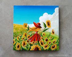 Dream Chaser - Original Canvas Painting - Cindy Thornton Art