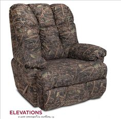 Lazy Boy Sofa Elevations Camo Recliner by Chelsea Comfort and great camouflage fabric cover for